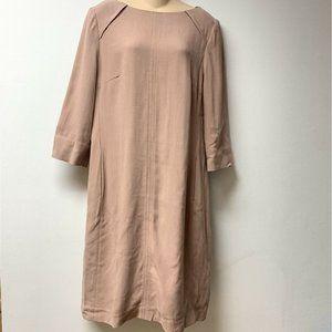 HOBBS London Wool Blend Blush Shift Style Dress